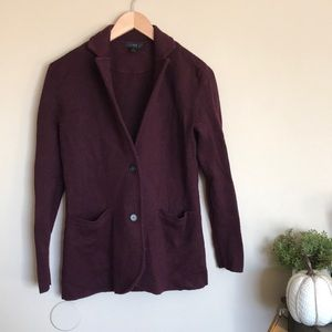 J.Crew maroon burgundy button cardigan sweater